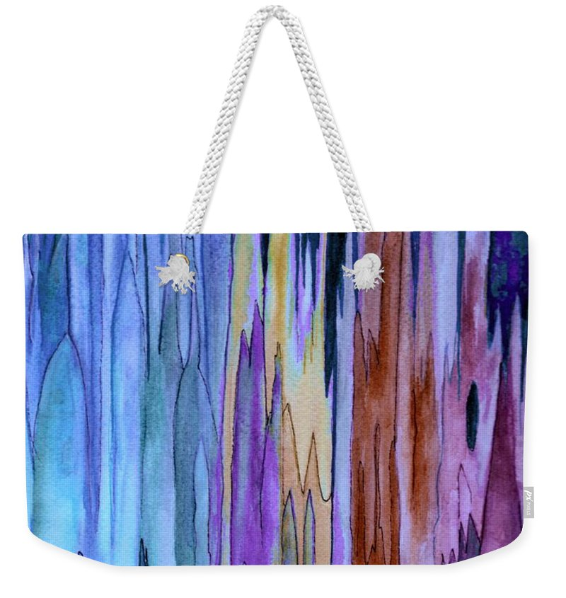Watercolor Weekender Tote Bag featuring the painting Cathedrals by Brenda Owen