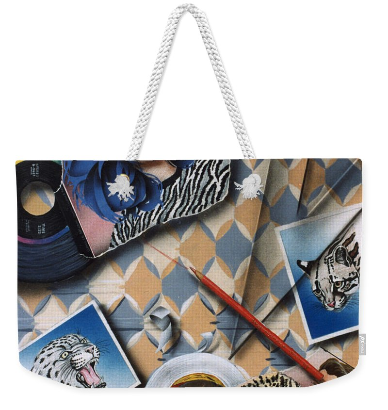 Cats Weekender Tote Bag featuring the painting Cats by Shaun McNicholas