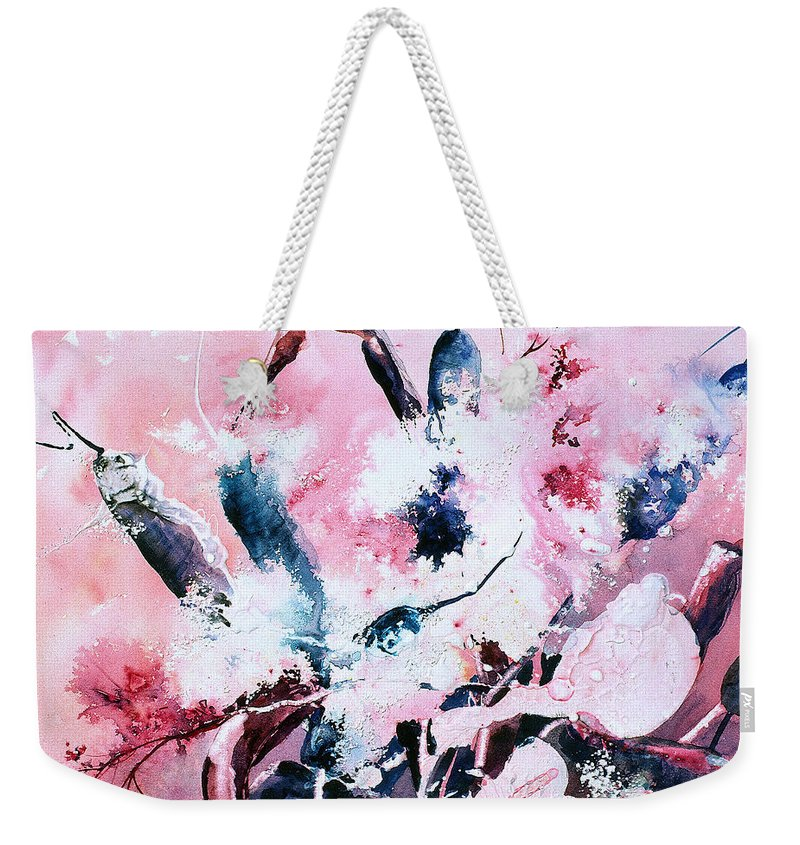Cattails Weekender Tote Bag featuring the painting Cattails Four by Connie Williams