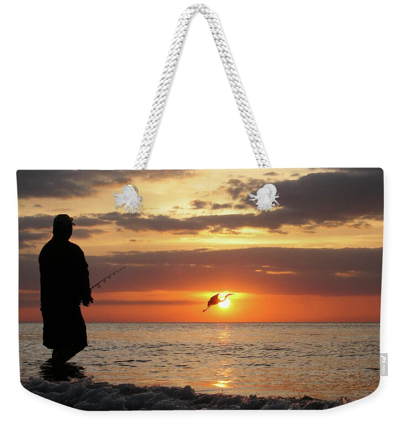 Sarasota Weekender Tote Bag featuring the photograph Caught At Sunset by Dick Goodman