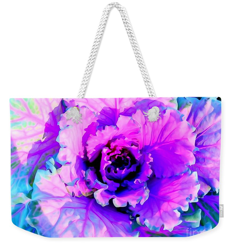 Digital Weekender Tote Bag featuring the photograph Cauliflower Abstract #8 by Ed Weidman