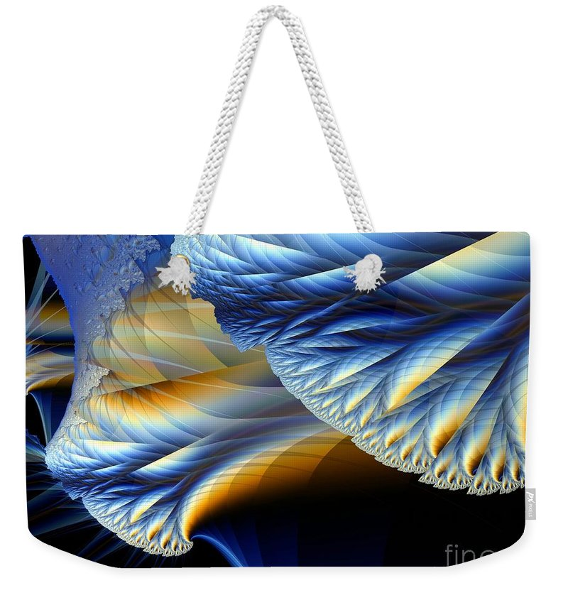 Fractal Image Weekender Tote Bag featuring the digital art Cauliflower From Other Dimensions by Ron Bissett