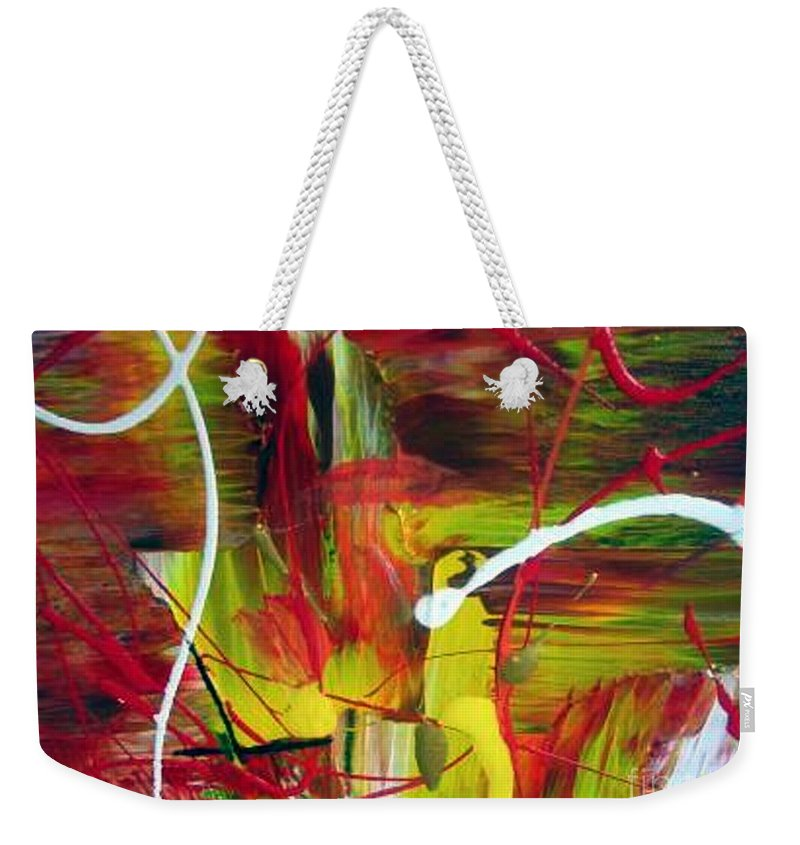 Caution Weekender Tote Bag featuring the painting Caution by Dawn Hough Sebaugh