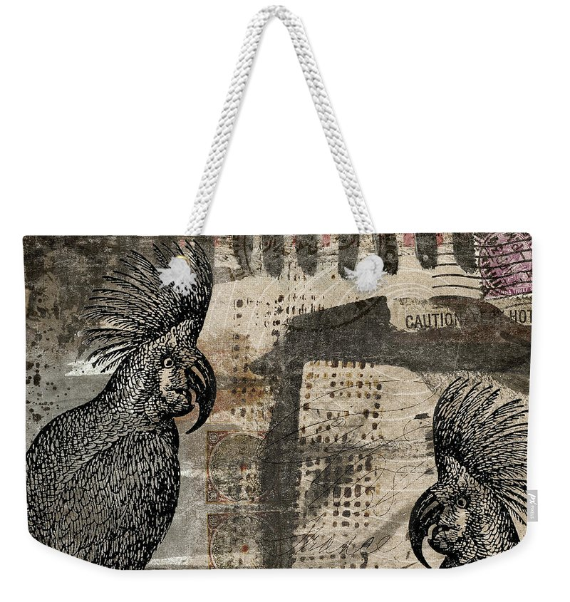 Cockatoo Weekender Tote Bag featuring the photograph Caution Hot Cockatoos Postcard by Carol Leigh
