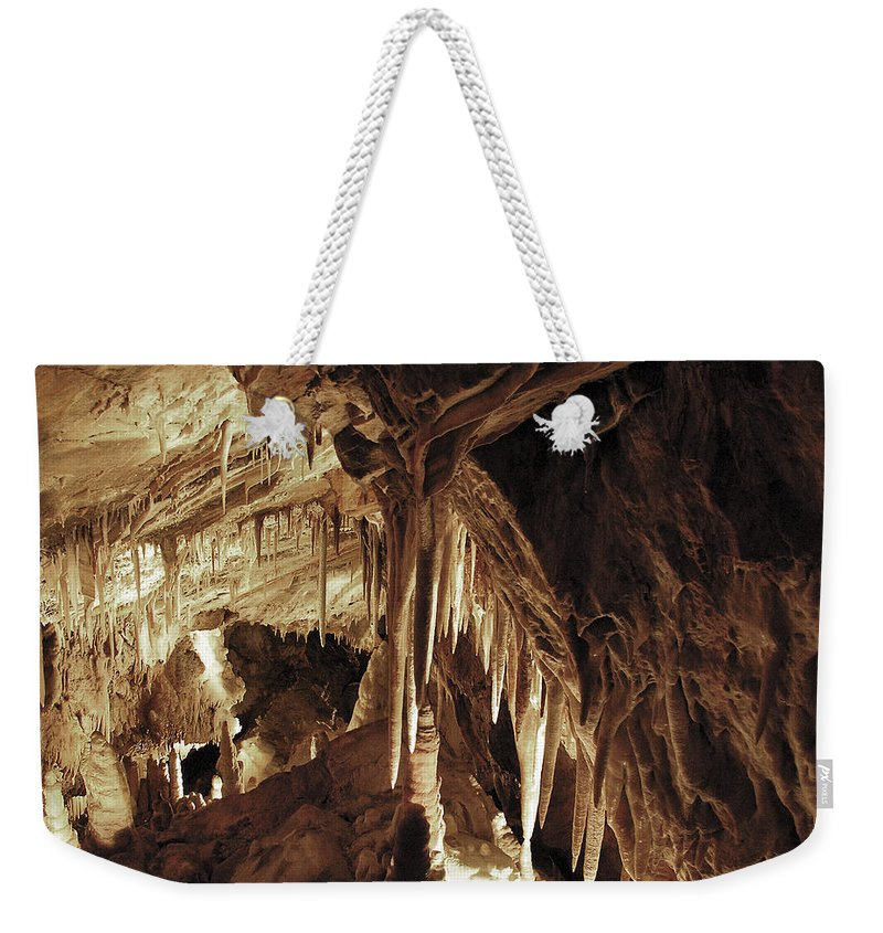 Cave Weekender Tote Bag featuring the photograph Cave Interior by Marilyn Hunt
