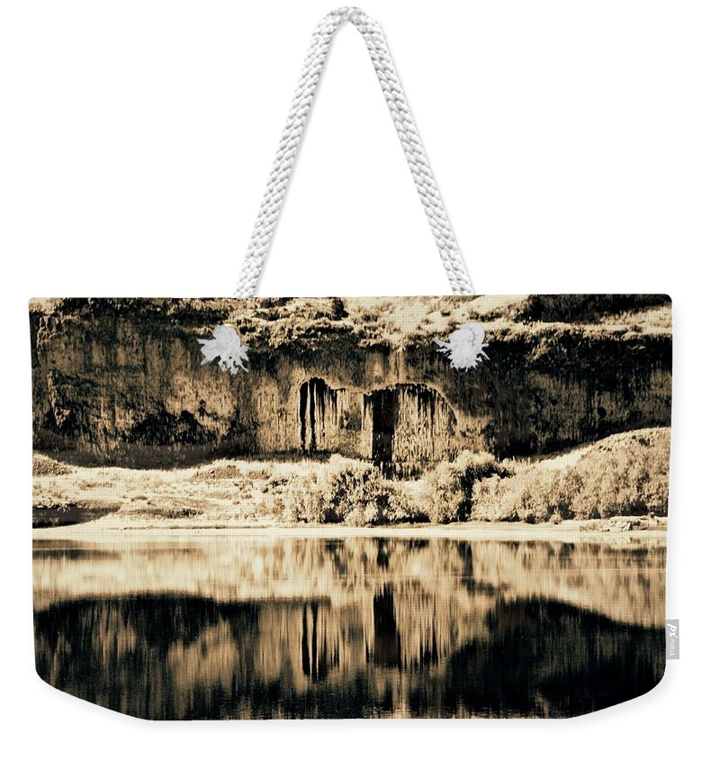 Columbia Basin Weekender Tote Bag featuring the photograph Columbia Basin Abstract by David Coleman