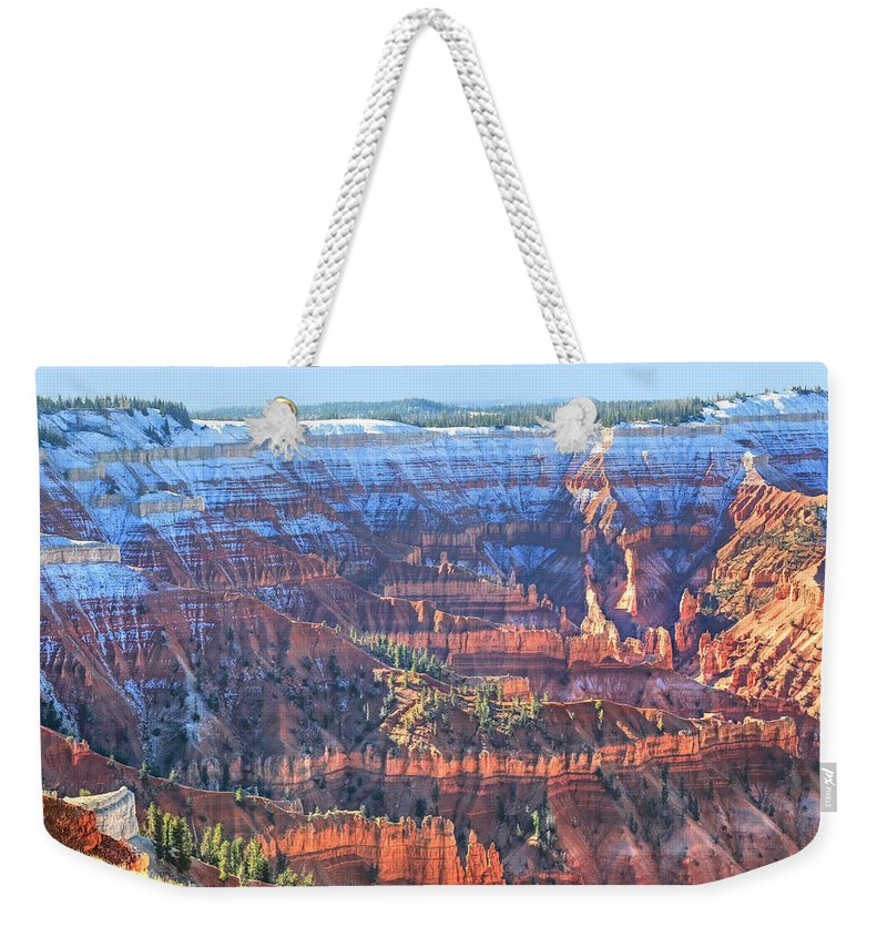 Cedar Breaks Weekender Tote Bag featuring the photograph Cedar Breaks View by Donna Kennedy
