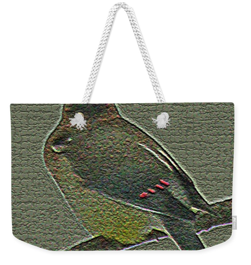 Photography Weekender Tote Bag featuring the photograph Cedar Waxwing by Jenny Gandert