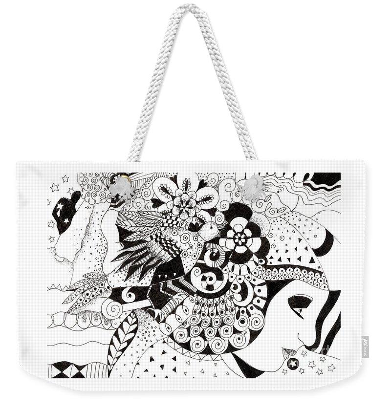 Organic Abstraction Drawings Weekender Tote Bags