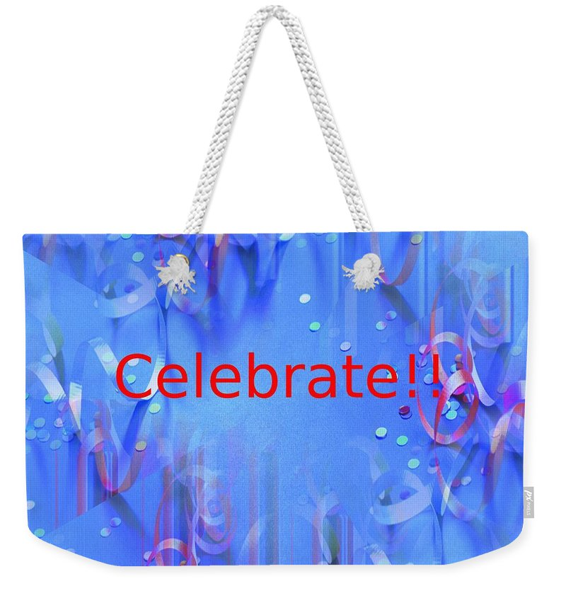 Celebrate Weekender Tote Bag featuring the photograph Celebrate 1 by Tim Allen