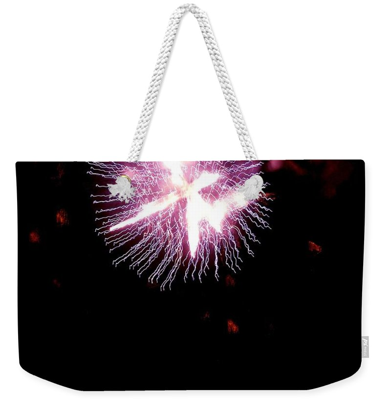 Fireworks Weekender Tote Bag featuring the photograph Celebrate Life by Kendall Eutemey
