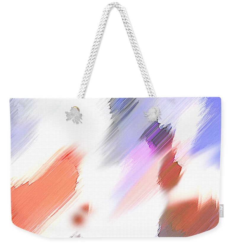 Digital Art Water Color Watercolor Light Color Weekender Tote Bag featuring the painting Celebration by Anil Nene