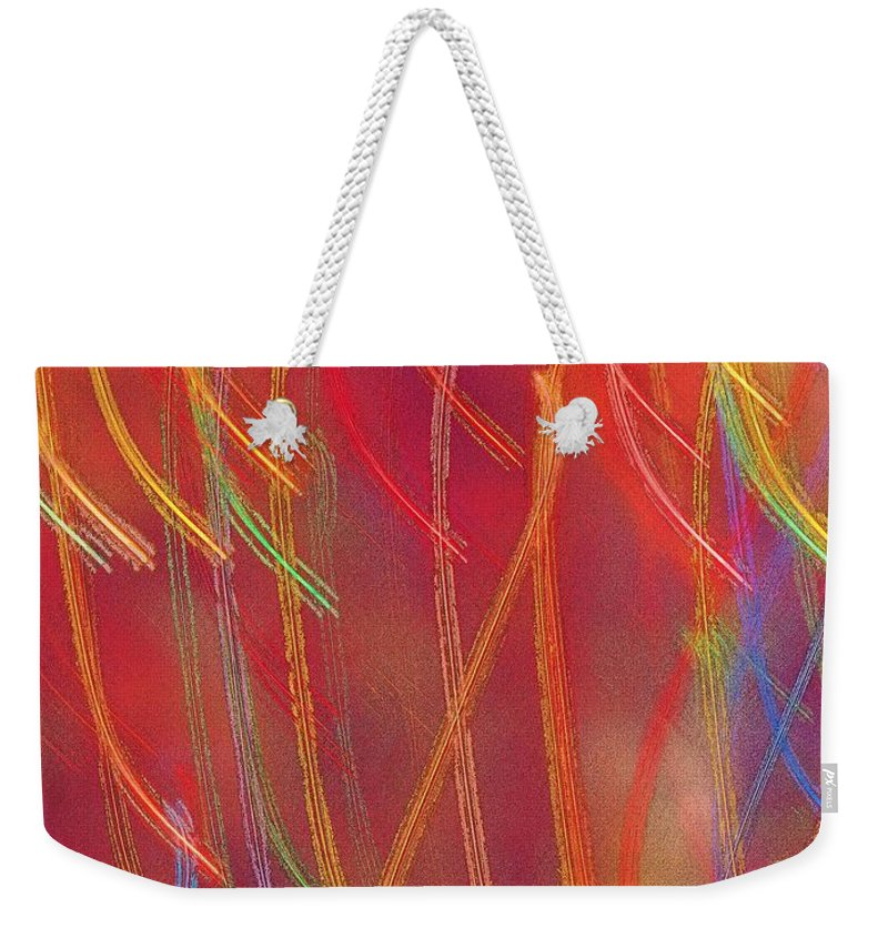 Abstract Weekender Tote Bag featuring the photograph Celebration by Gaby Swanson