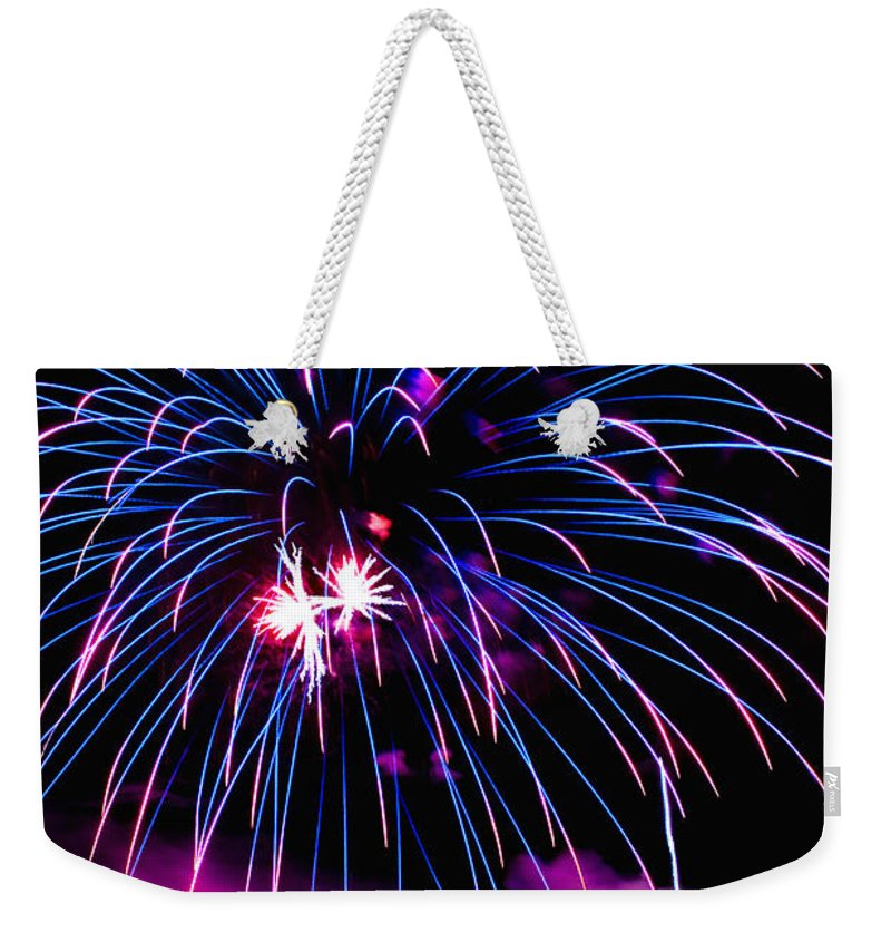 Fireworks Weekender Tote Bag featuring the photograph Celebration IIi by Greg Fortier