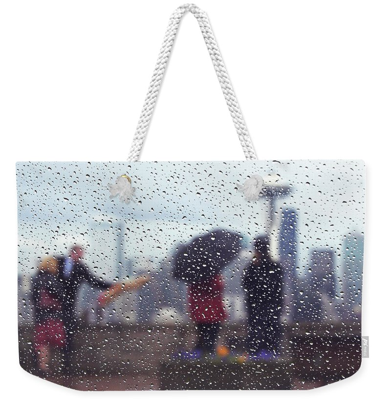 Seattle Weekender Tote Bag featuring the photograph Celebration In Rain A036 by Yoshiki Nakamura