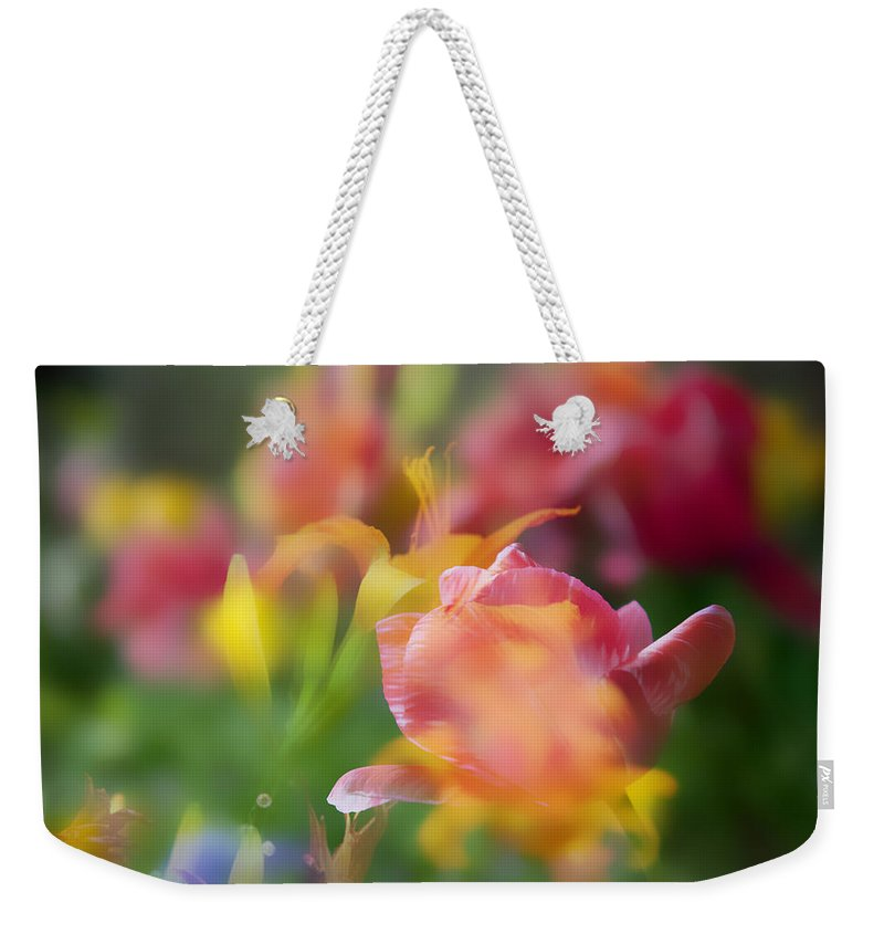 Floral Weekender Tote Bag featuring the photograph Celebration Of Color by Toni Hopper