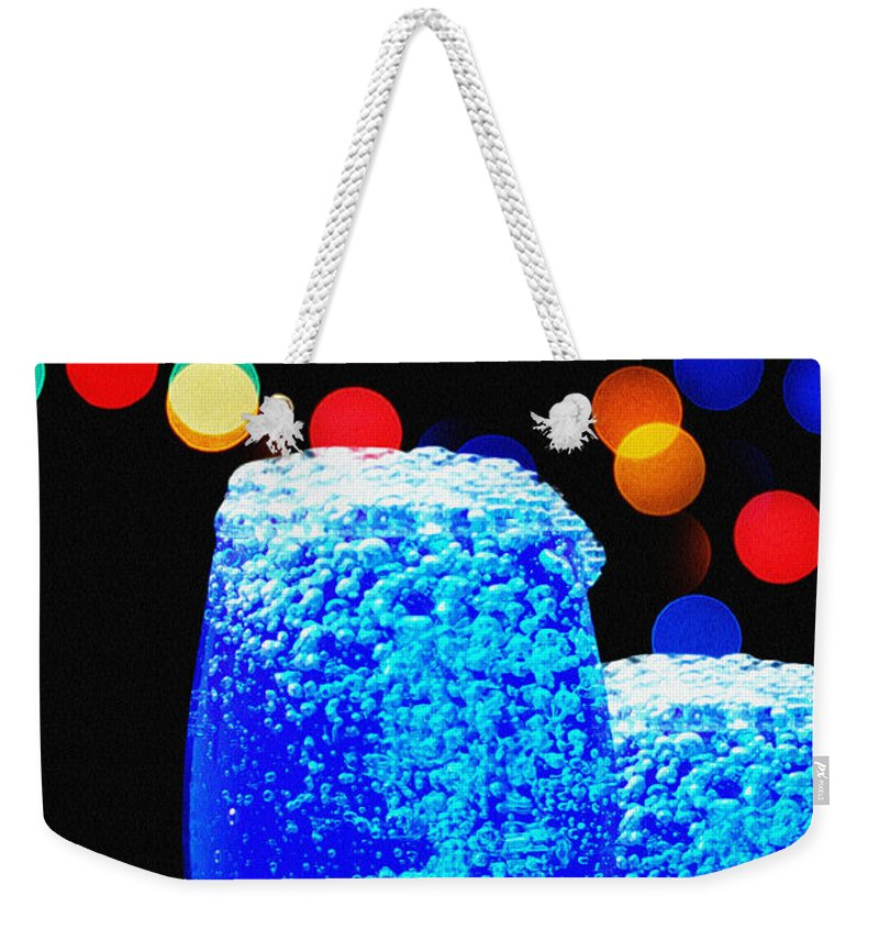 Mocktails Weekender Tote Bag featuring the photograph Celebrations With Blue Lagon by Manjot Singh Sachdeva