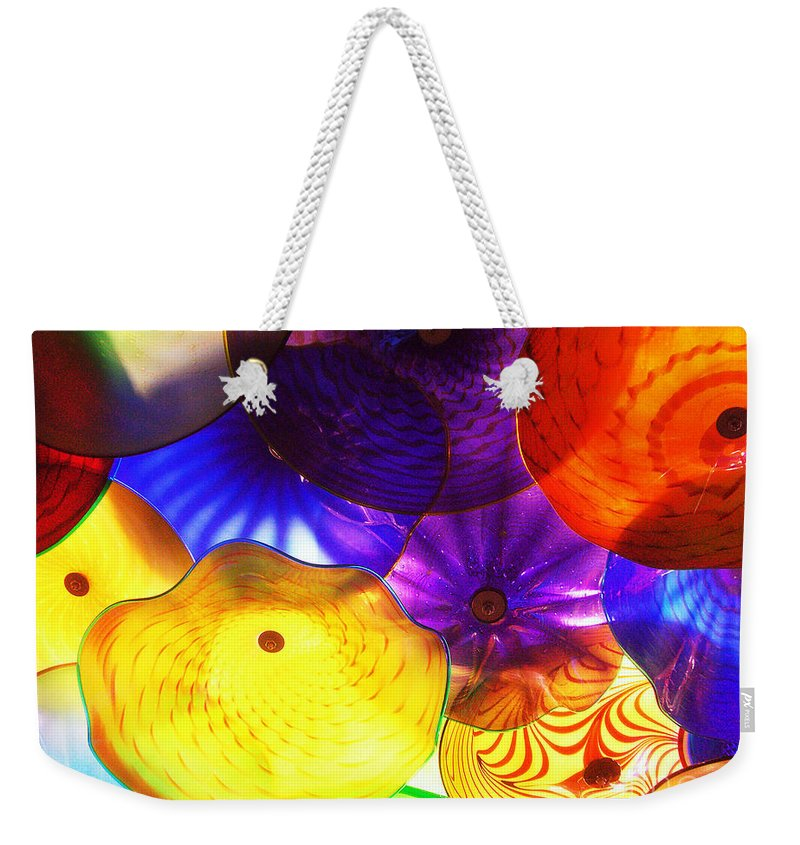 Glass Weekender Tote Bag featuring the photograph Celestial Glass 3 by Xueling Zou