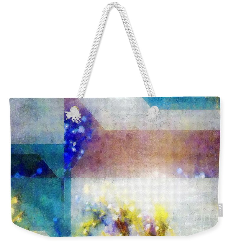 Abstract Weekender Tote Bag featuring the painting Celestial Navigation by RC DeWinter