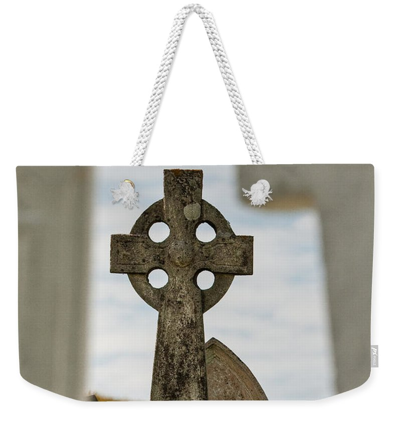 Celtic Cross Weekender Tote Bag featuring the photograph Celtic Cross by Colette Panaioti
