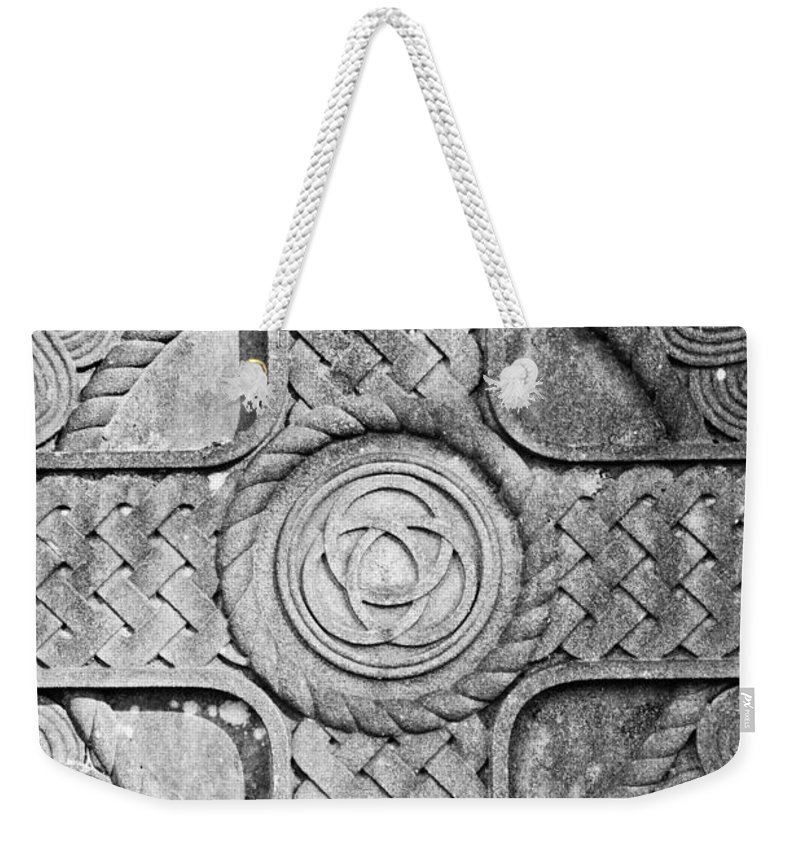 Scottish Weekender Tote Bag featuring the photograph Celtic Cross by Colleen Kammerer