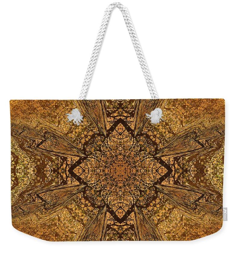 Abstract Weekender Tote Bag featuring the mixed media Celtic Mandala Abstract by Georgiana Romanovna