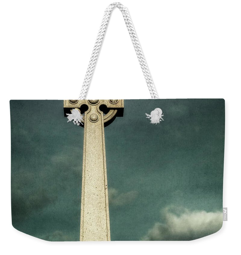 Kremsdorf Weekender Tote Bag featuring the photograph Celtic Sanctuary by Evelina Kremsdorf