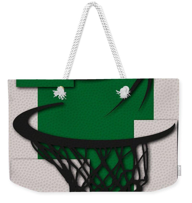 Celtics Weekender Tote Bag featuring the photograph Celtics Hoop by Joe Hamilton