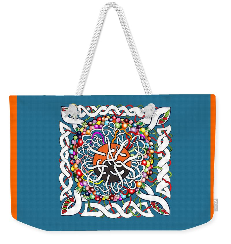 Celtic Art Weekender Tote Bag featuring the drawing Celts Box by Gala Hutton