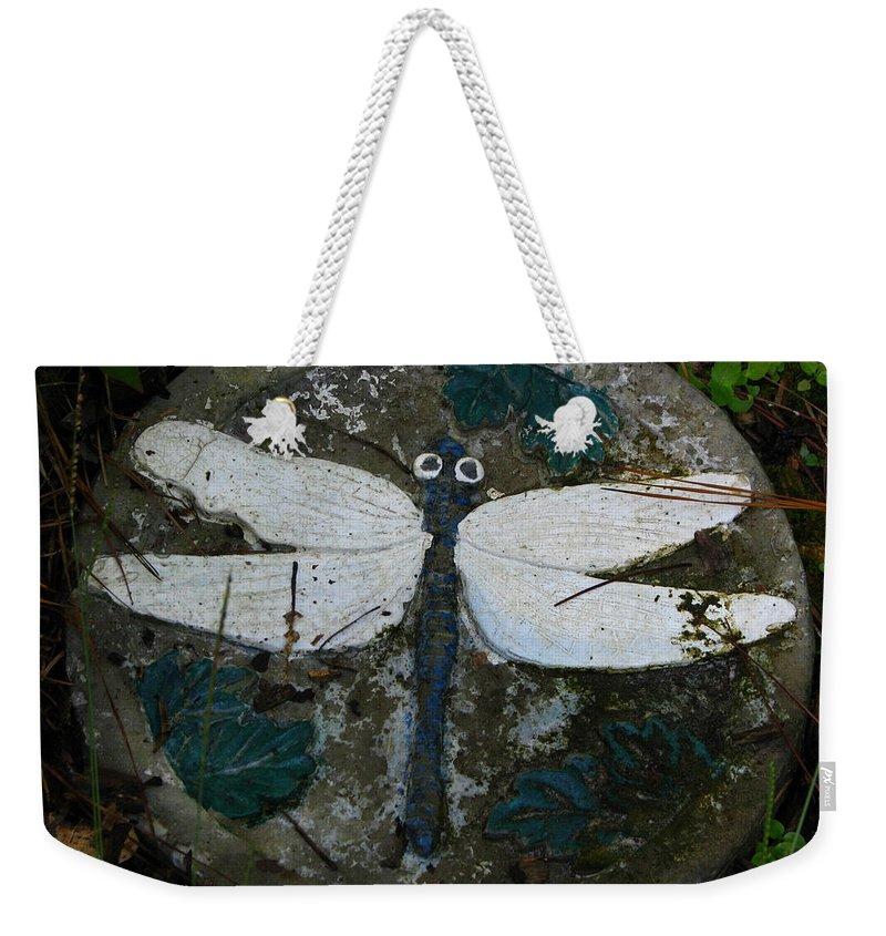Patzer Weekender Tote Bag featuring the photograph Cement Dragon by Greg Patzer
