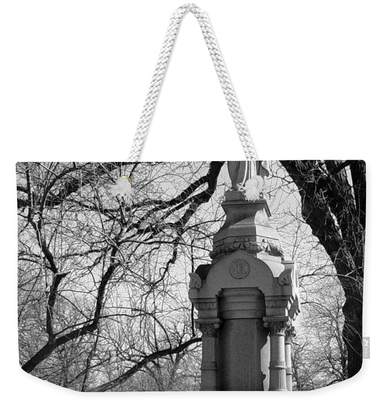 Cemetery Weekender Tote Bag featuring the photograph Cemetery 1 by Anita Burgermeister