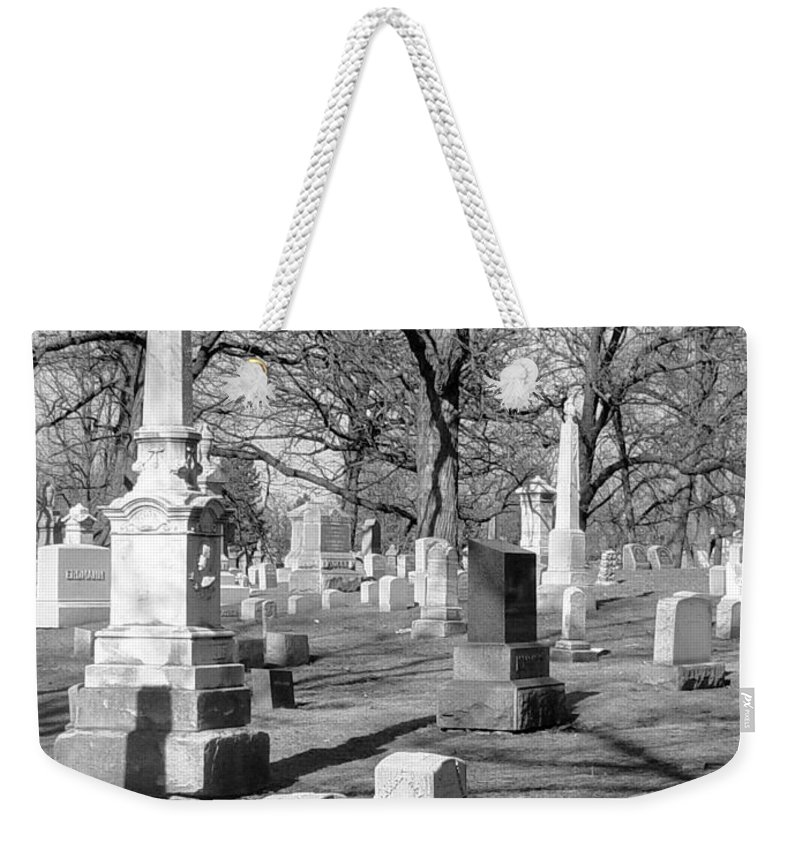 Cemetery Weekender Tote Bag featuring the photograph Cemetery 3 by Anita Burgermeister