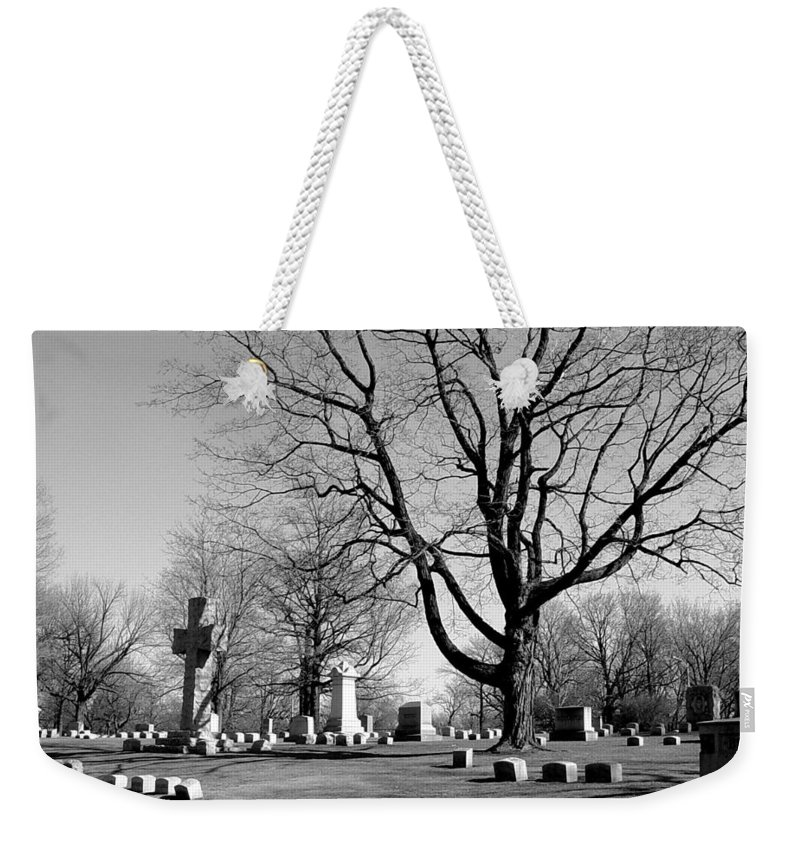 Cemetery Weekender Tote Bag featuring the photograph Cemetery 5 by Anita Burgermeister