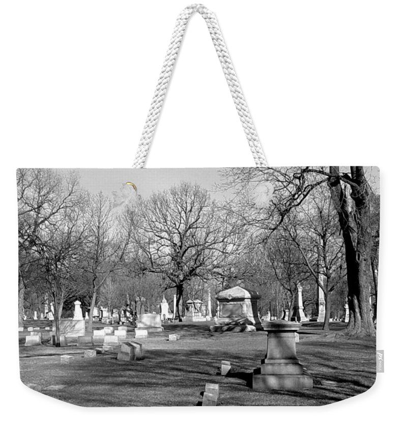Cemetery Weekender Tote Bag featuring the photograph Cemetery 7 by Anita Burgermeister