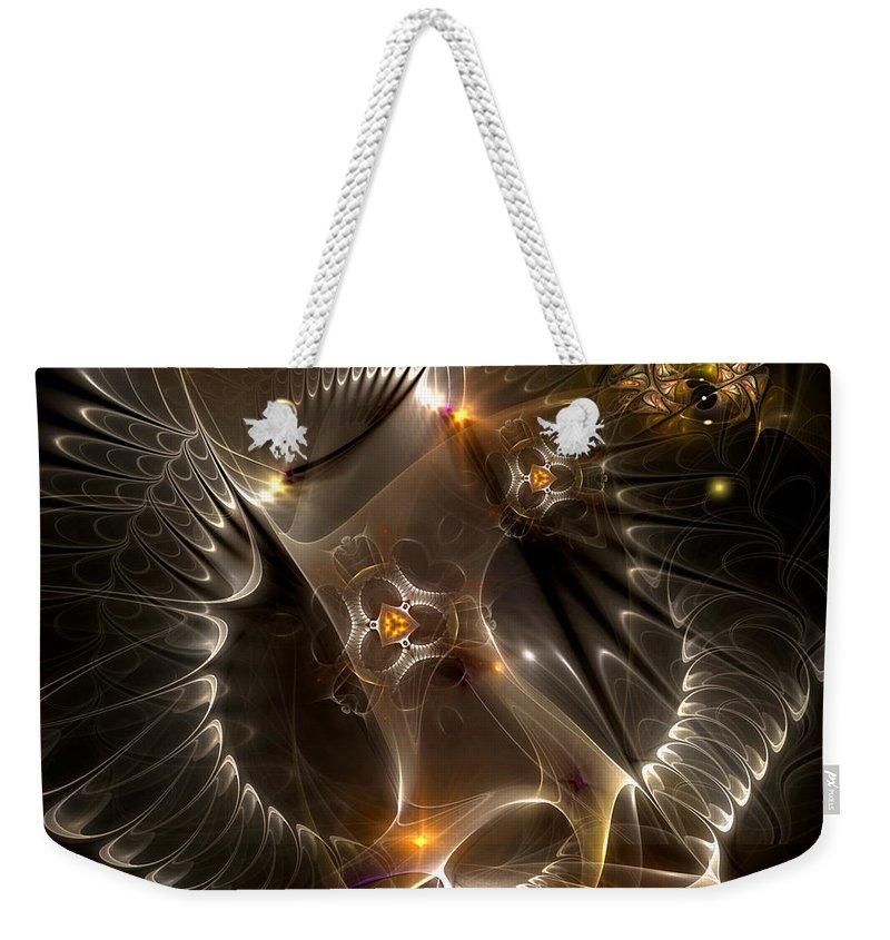 Abstract Weekender Tote Bag featuring the digital art Cenogenesis by Casey Kotas