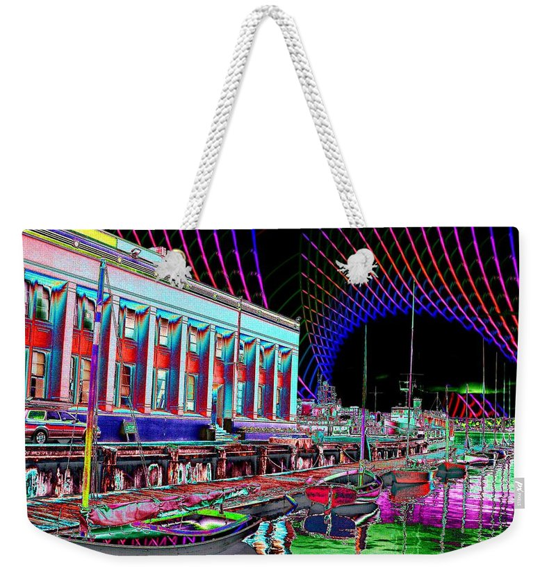 Seattle Weekender Tote Bag featuring the photograph Center For Wooden Boats by Tim Allen