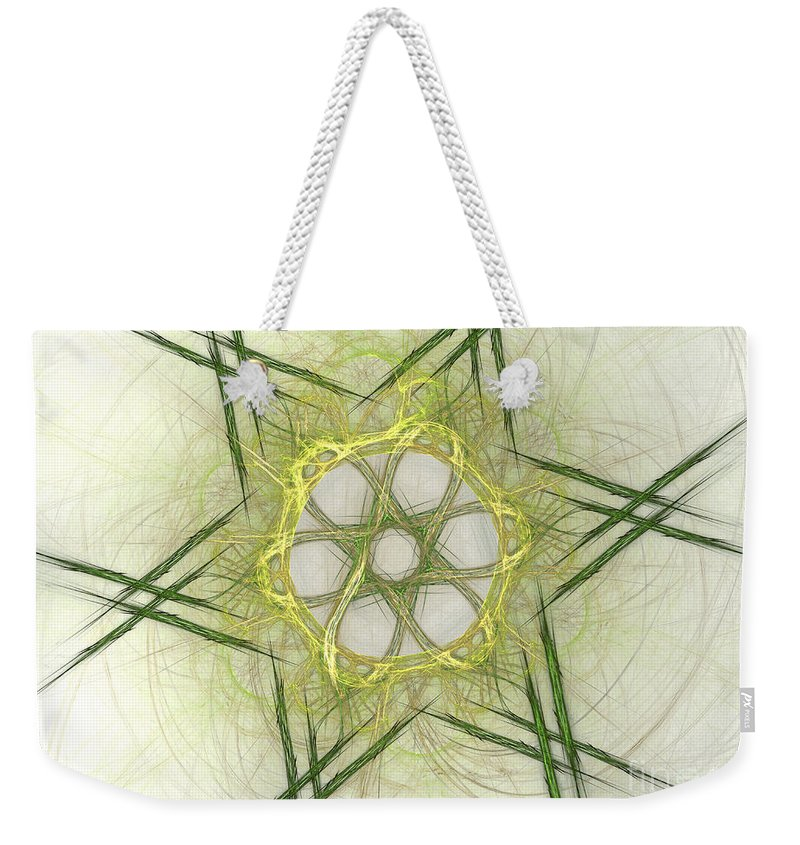 Apophysis Weekender Tote Bag featuring the digital art Center Of The Star by Deborah Benoit