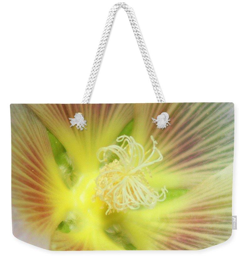 Yellow Flower Weekender Tote Bag featuring the photograph Center Sensation by Matthew Wilson