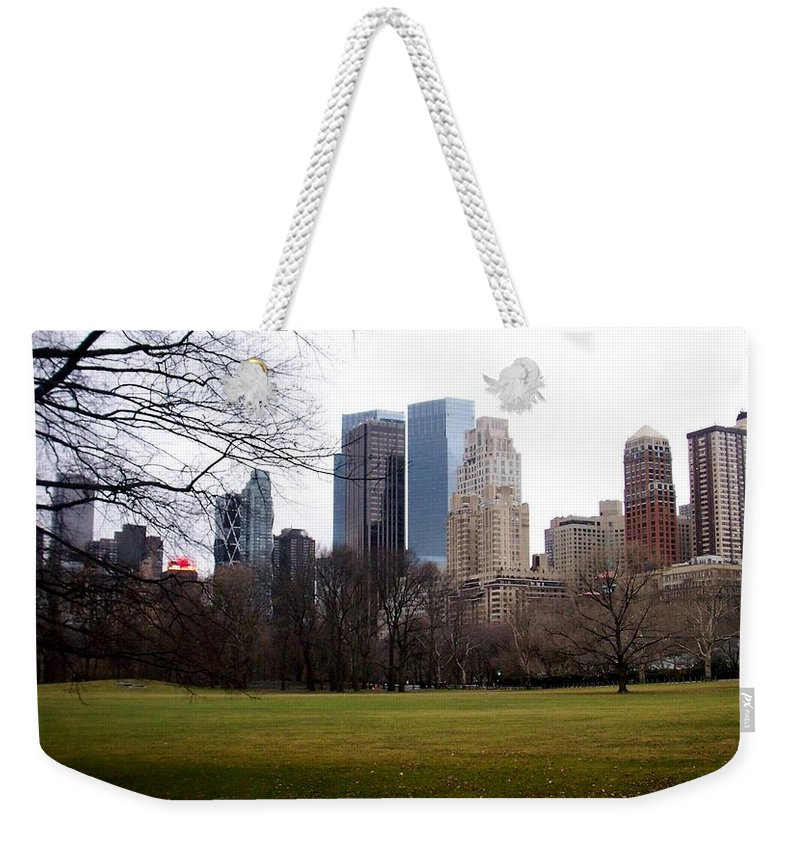 Central Park Weekender Tote Bag featuring the photograph Central Park by Anita Burgermeister