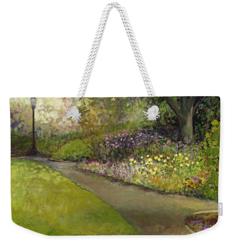 Plein Air Weekender Tote Bag featuring the painting Central Park by Jennifer Lommers
