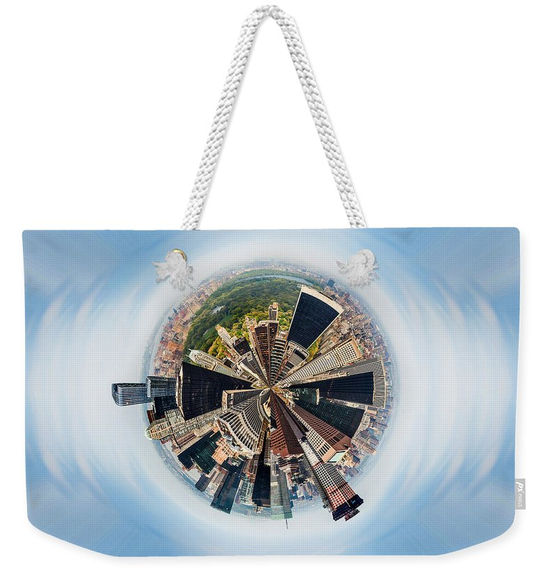 Megacity Weekender Tote Bag featuring the photograph Eye Of New York by Az Jackson