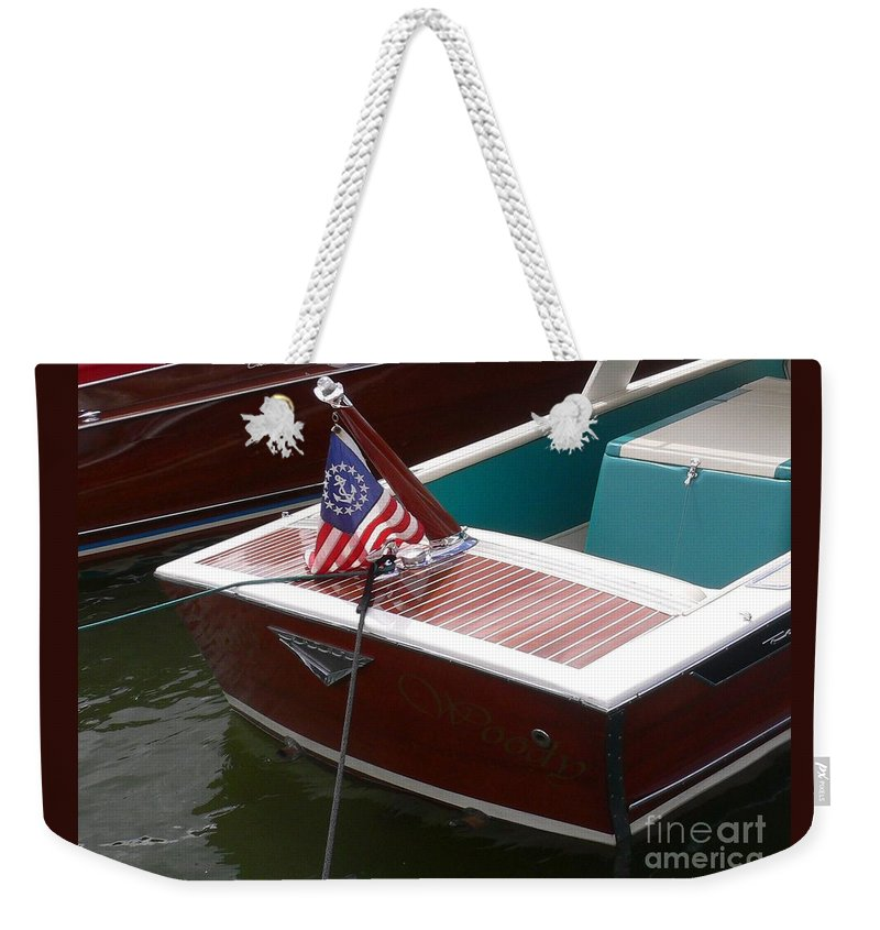 Boat Weekender Tote Bag featuring the photograph Century Coronado by Neil Zimmerman