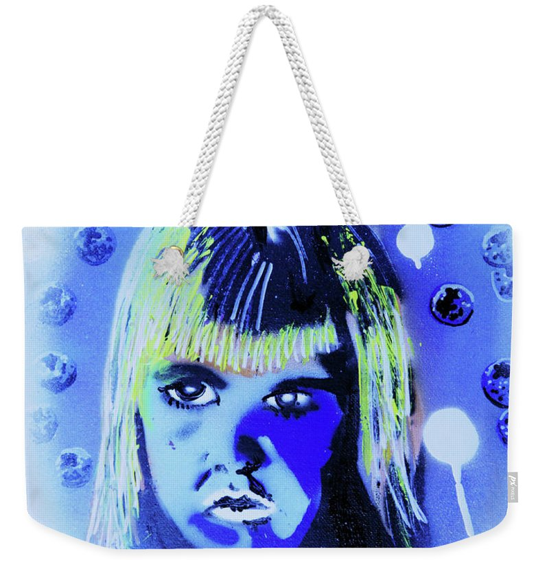 Cereal Killers Weekender Tote Bag featuring the painting Cereal Killers - Boo Berry by eVol i