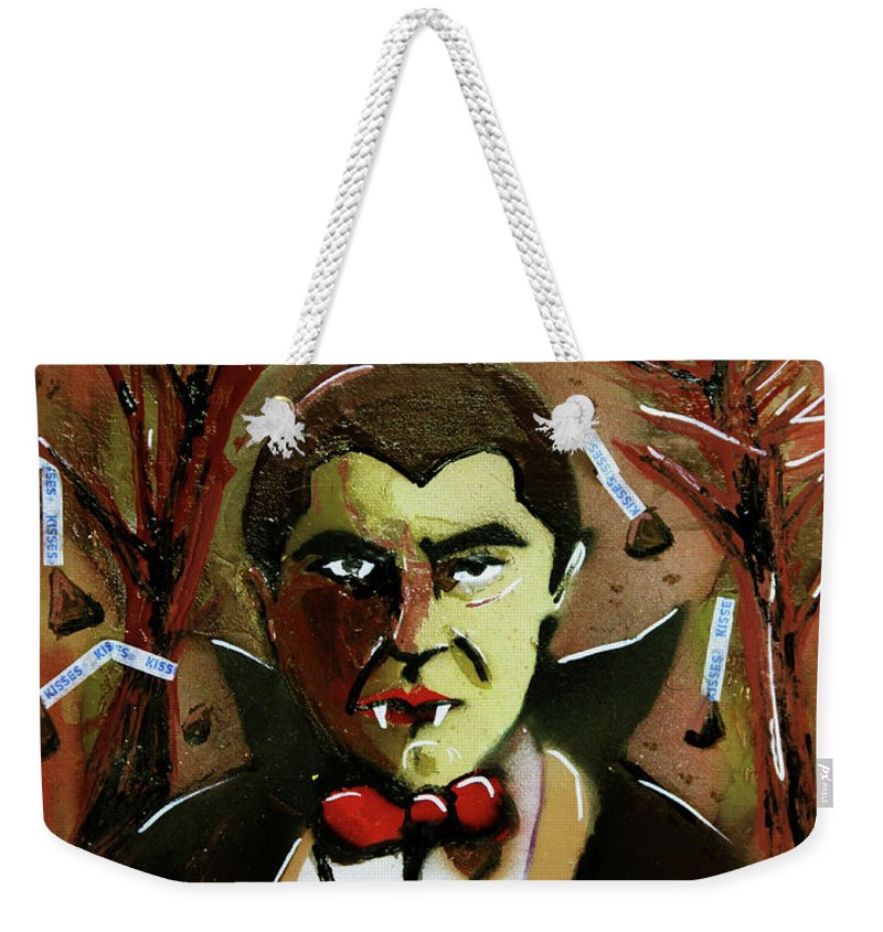 Count Chocula Weekender Tote Bag featuring the painting Cereal Killers - Count Chocula by eVol i