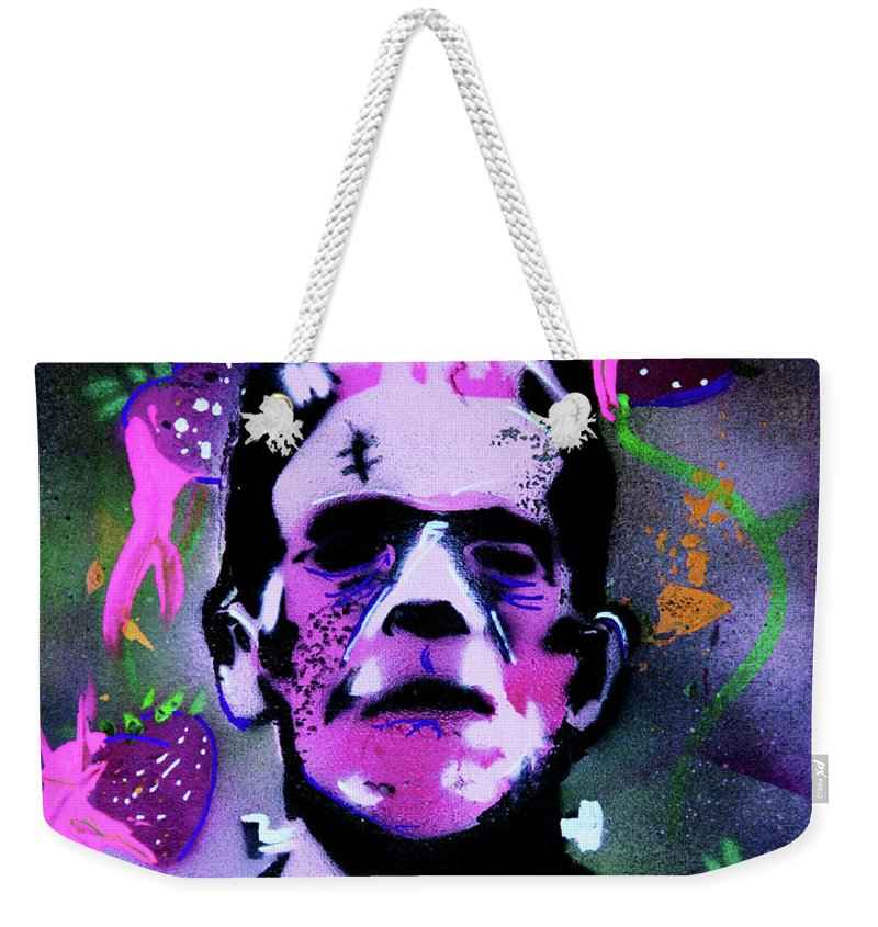 Cereal Killers Weekender Tote Bag featuring the painting Cereal Killers - Frankenberry by eVol i