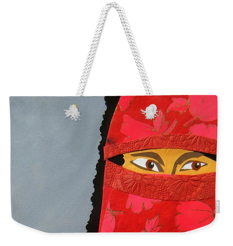 Woman Weekender Tote Bag featuring the mixed media Chador by Debra Bretton Robinson