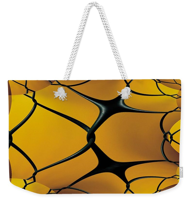 Chain Link Weekender Tote Bag featuring the photograph Chain Link Fractal by Tim Allen