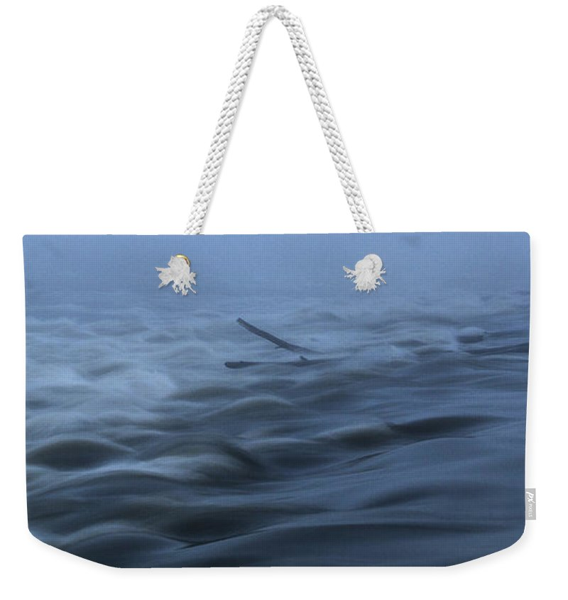 Chain Of Rocks Weekender Tote Bag featuring the photograph Chain Of Rocks On The Mississippi River by Garry McMichael