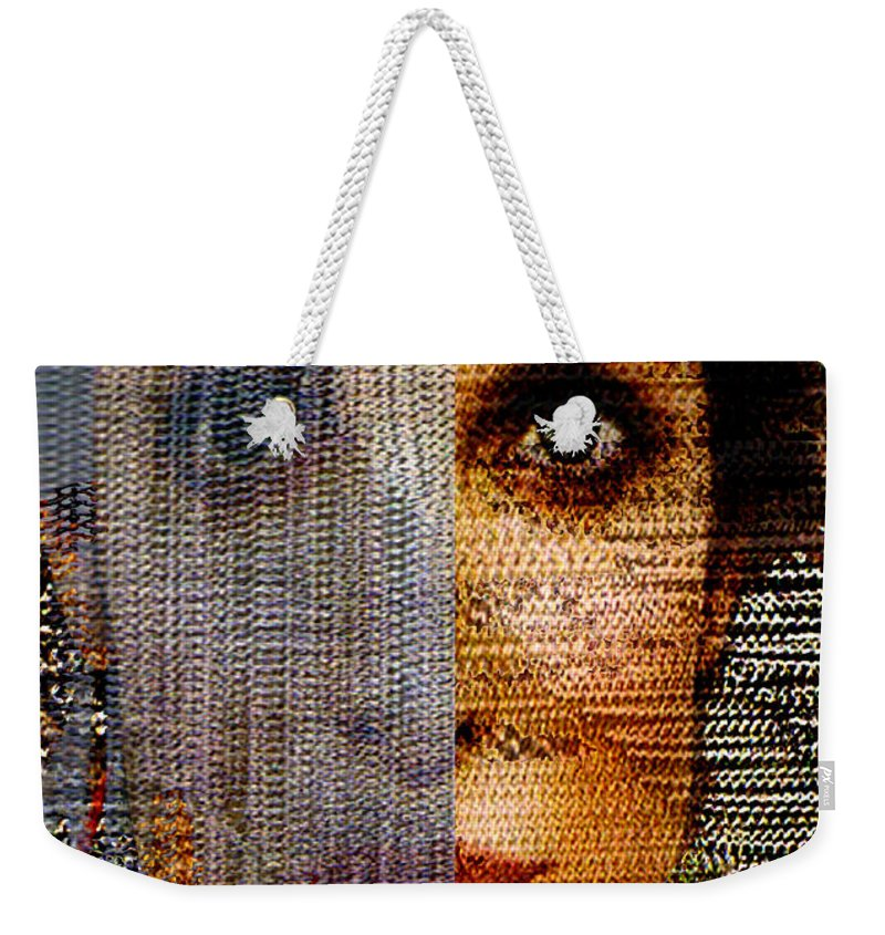 Mysterious Weekender Tote Bag featuring the digital art Chained Vixen by Seth Weaver