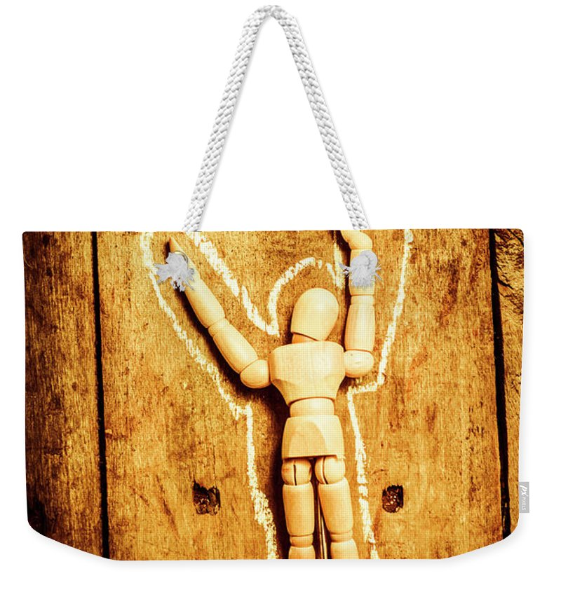 Crime Weekender Tote Bag featuring the photograph Chalked Out John Doe by Jorgo Photography - Wall Art Gallery